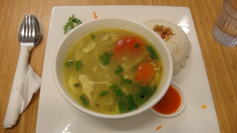 Soto Ayam with Rice