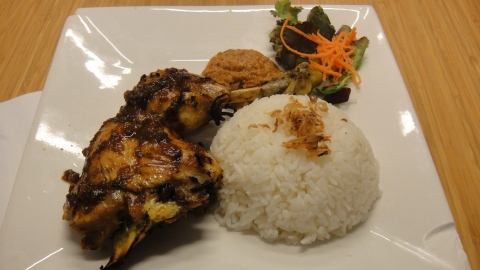 Ayam Penyet with Rice