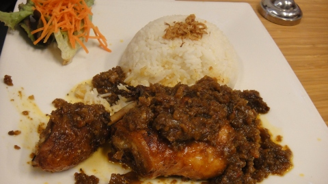Sambal Goreng Ayam with Rice