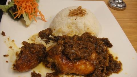 Sambal Goreng Ayam with Rice