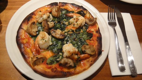 Gambas Pizza ($16.50)