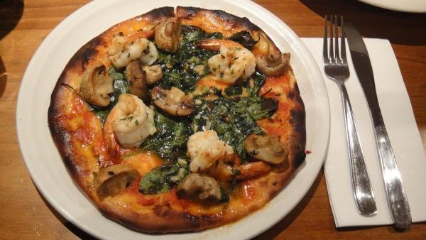 Gambas Pizza ($16.50)