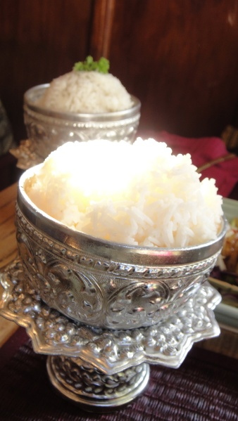 Coconut Rice ($2.50) & Steamed Rice ($2.00)