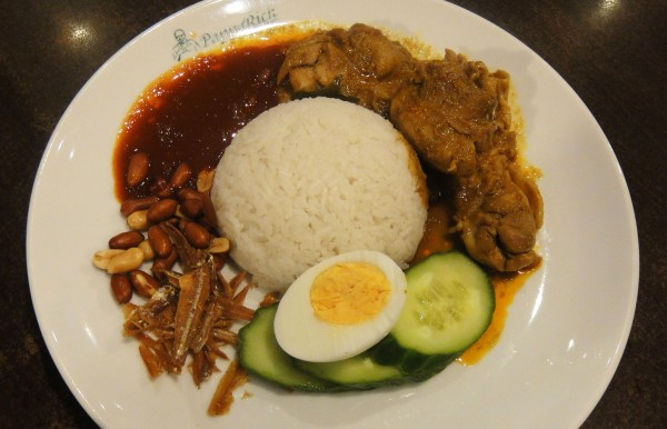 R07. Nasi Lemak w/ Curry Chicken ($12.50)