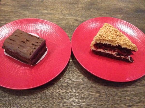 Left: Sinful Chocolate Cake Right: Red Velvet Nougat