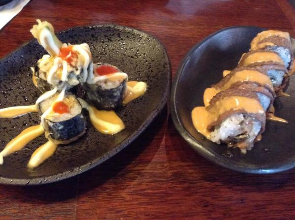 Left: Krakatau Roll Right: Fire Island Roll