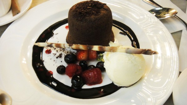 Soft-centered Chocolate Pudding ($15)