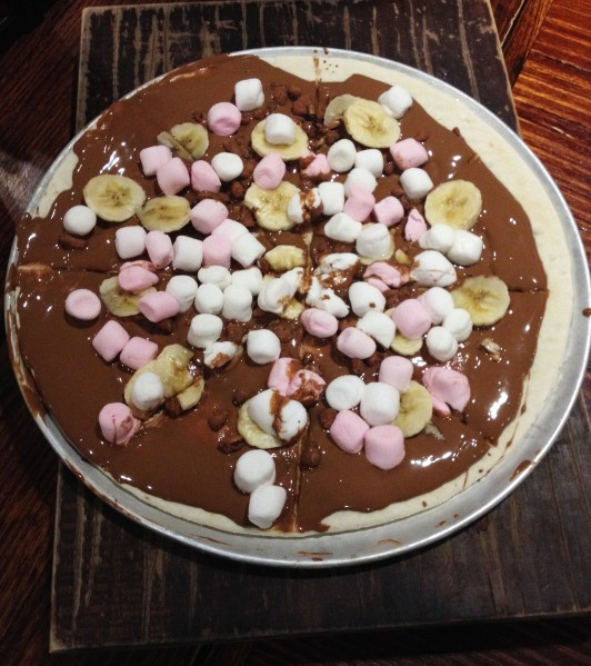 Choc-Banana Pizza ($17.00)