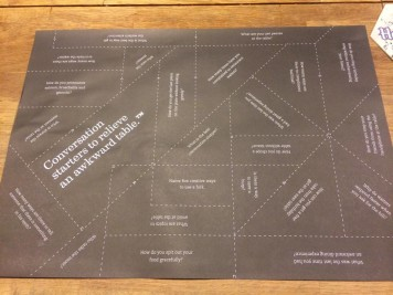 Ideas on a placemat