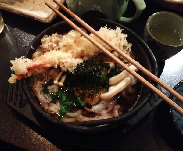 Nabeyaki Seafood Udon ($18)
