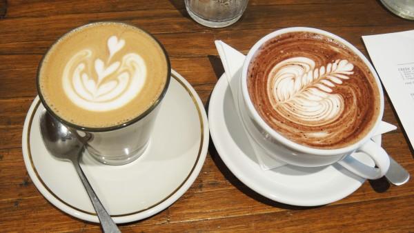 Mocha ($3.80) & Hot Chocolate ($4)