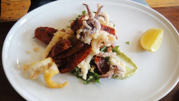 Crispy Calamari & Chorizo ($17)