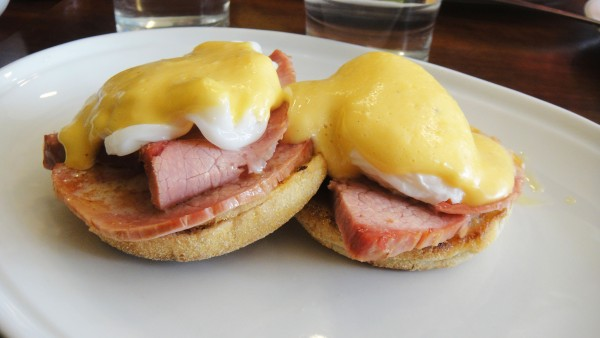 Corned Beef & Poached Eggs on Muffins ($15)