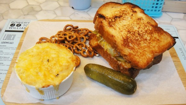 Wagyu Patty Melt Sandwich + Mac & Cheese ($17)