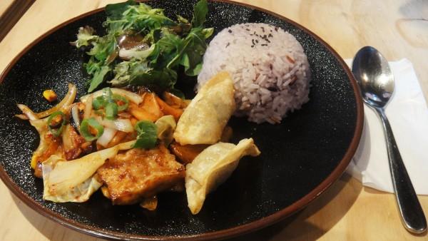Kimchi and Tofu Plate ($10)