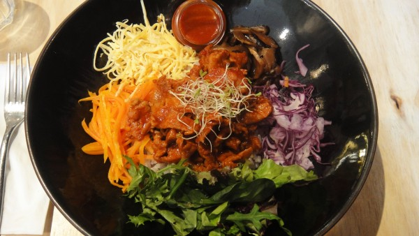 Spicy BBQ Pork Bibimbab ($10)