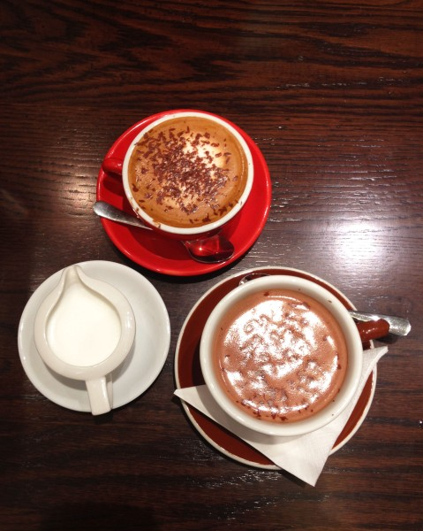 Mocha ($3.80) & Hot Chocolate ($6)