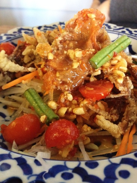 Som Tum Soft Shell Crab ($13.90)