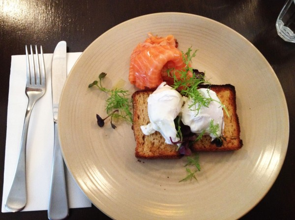 Eggs Any Style + Chai Cured Salmon ($16)