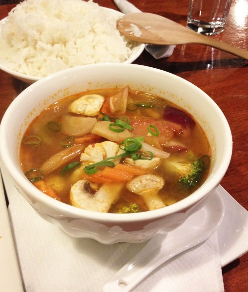 Tom Yum Mixed Vegetables ($15.90)