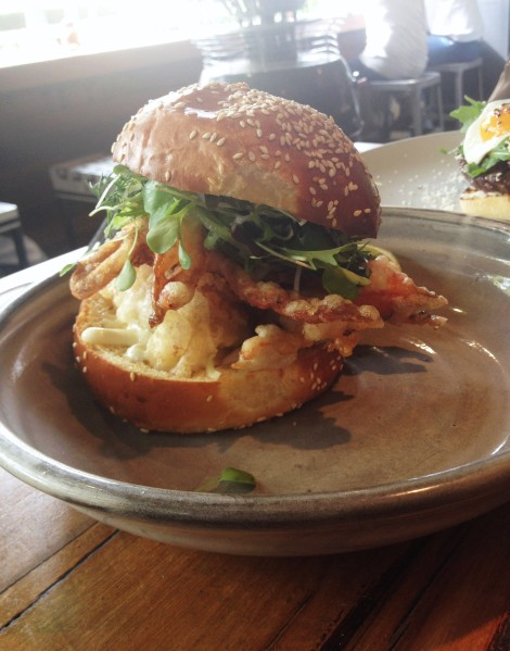Soft Shell Crab Burger ($23)