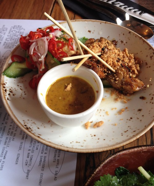 BBQ Chicken Satay ($23)